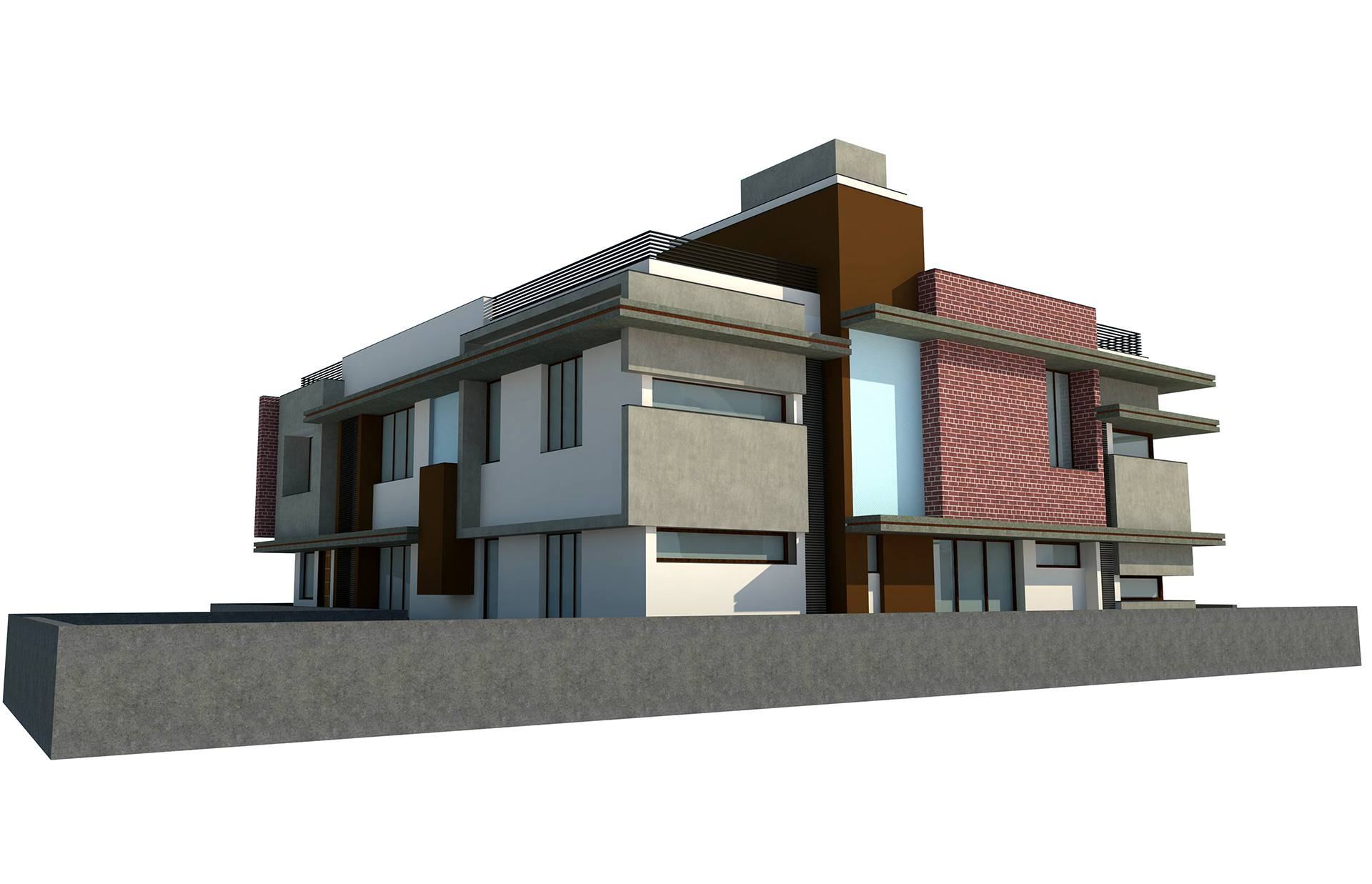 Proposed Twin Bungalow @ Mehsana Back