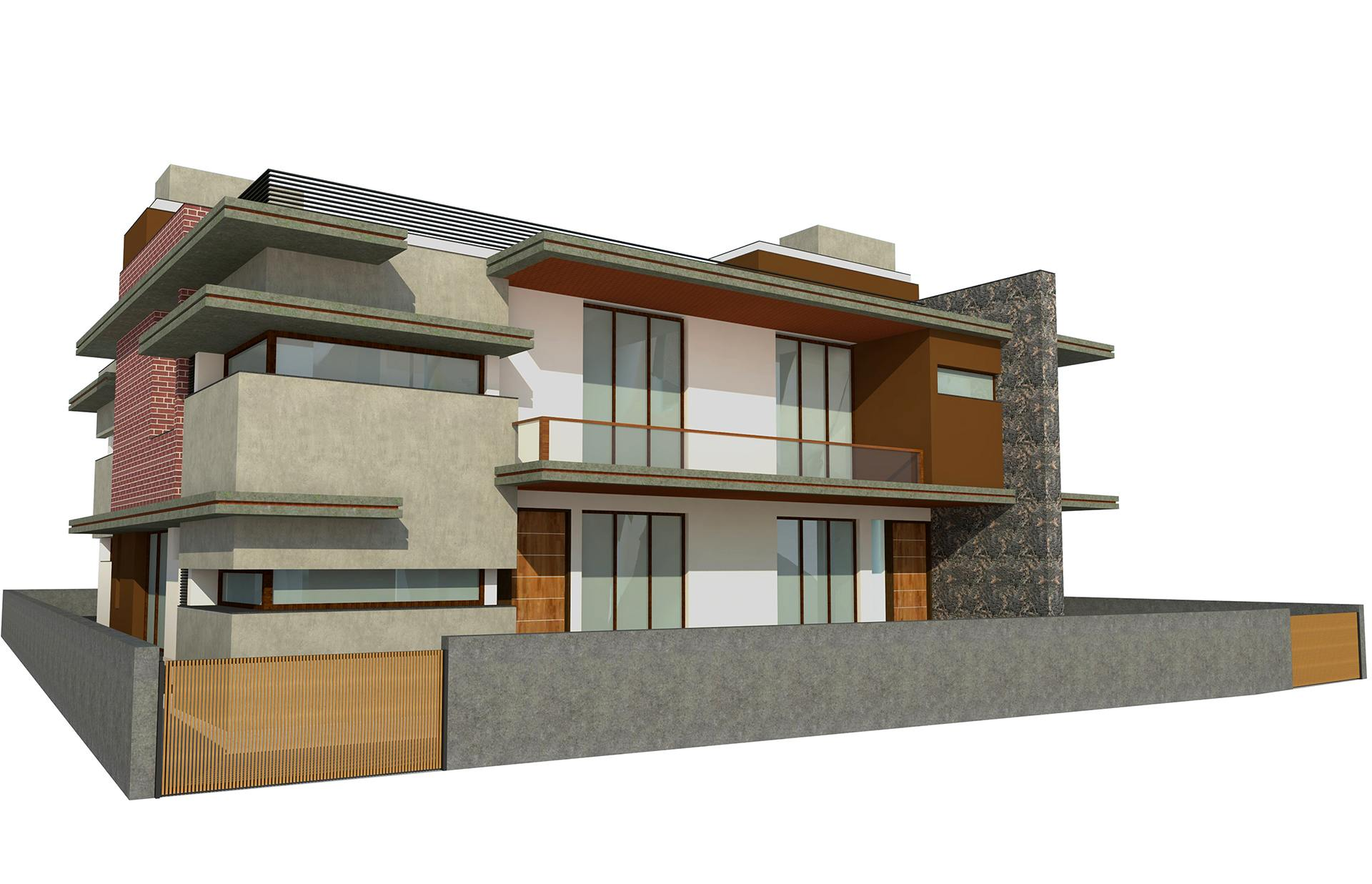Proposed Twin Bungalow @ Mehsana Front